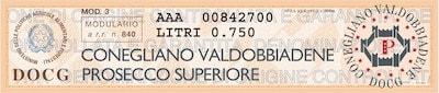 Этикетка Prosecco Rive Di Colbertaldo
