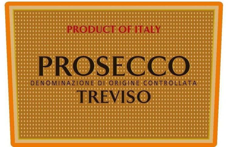 Этикетка Просекко из Тревизо